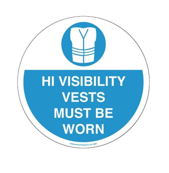 Floor Graphic Markers - Hi-Vis Vests Must Be Worn
