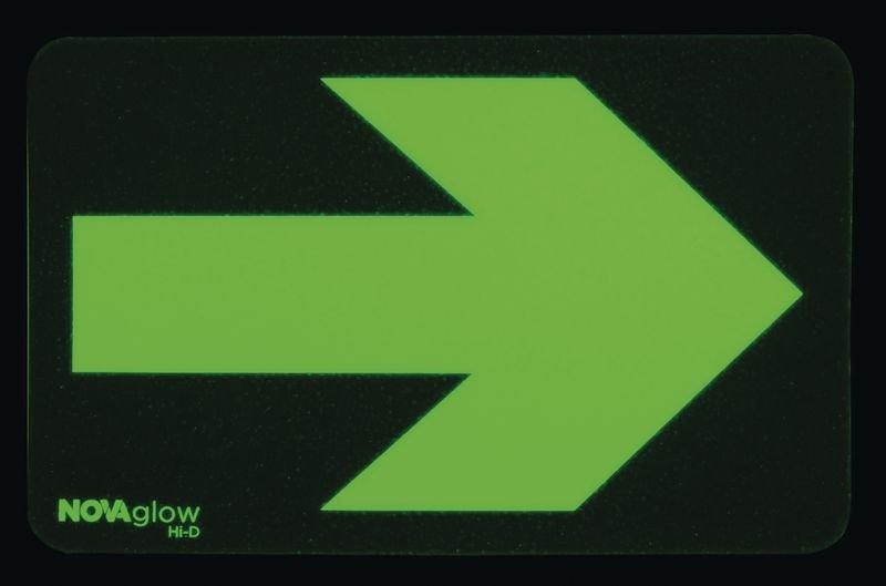 Photoluminescent Rectangle Floor Markers with Arrow - Seton