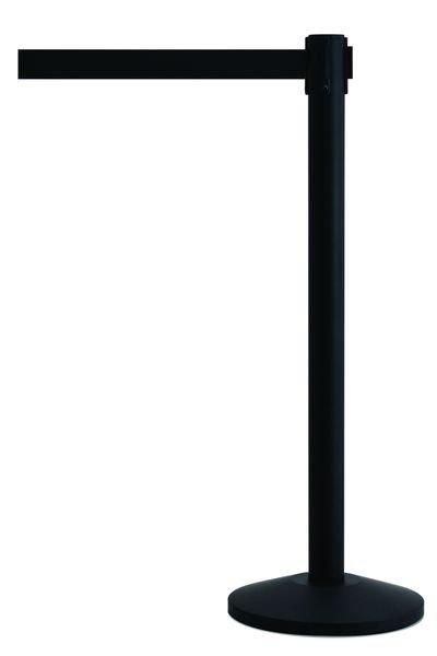 Retractable Belt Barriers - Black Posts