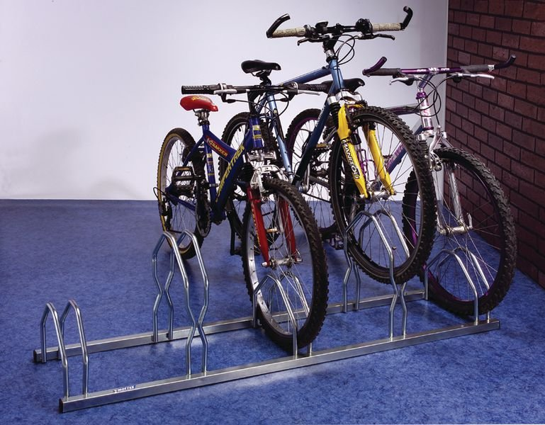 Staggered Height Cycle Racks