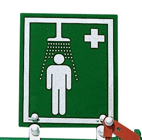 Brackets for Wall-Mounted Safety Shower Sign