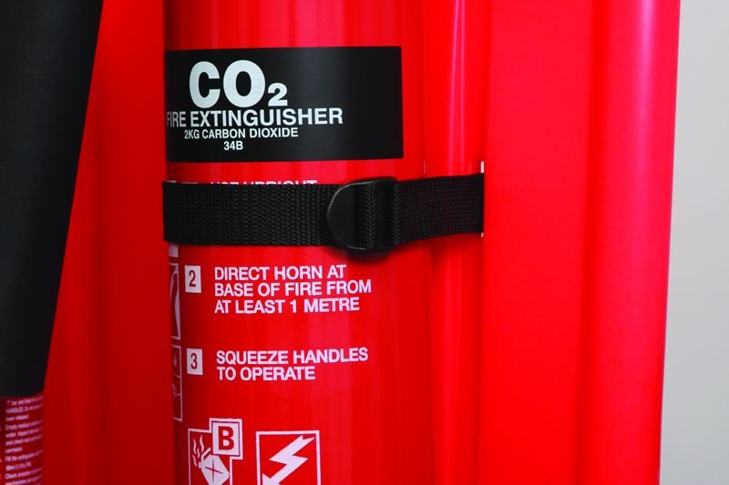 CO2 Extinguisher Straps for 2 Part Extinguisher Stands