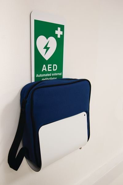 AED Holder with Sign
