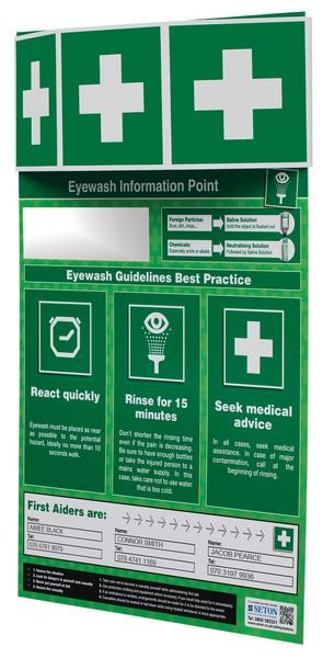 Eye Wash Information Point - Seton