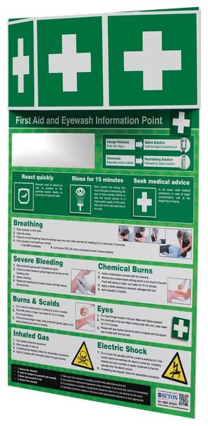 First Aid & Eye Wash Information Point - Seton