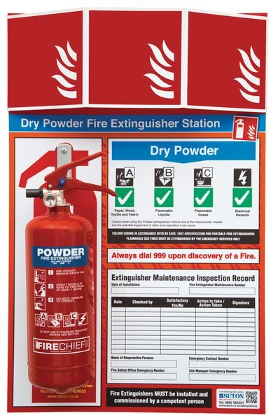 Stocked Fire Extinguisher Stations