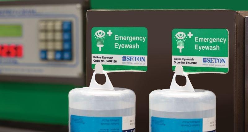 Quick Access Eye Wash Storage Hook - Eye Wash Bottles, Sprays & Pods