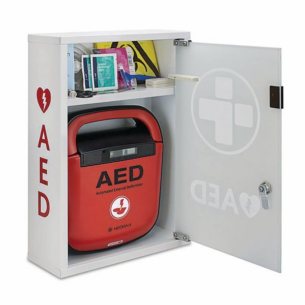 Mediana HeartOn AED With FREE Alarmed Cabinet - Seton