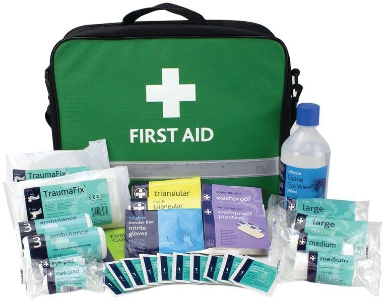 British Standard Compliant Grab Bag First Aid Kit