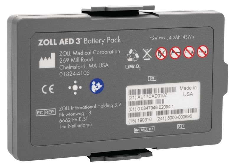 ZOLL AED 3 Battery Pack - Defibrillator Accessories