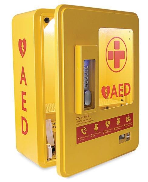 Heated Outdoor AED Storage Cabinet - Defibrillator Accessories