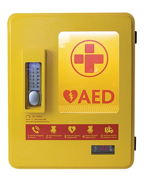 Heated Outdoor AED Storage Cabinet - AEDs and Resuscitation Equipment