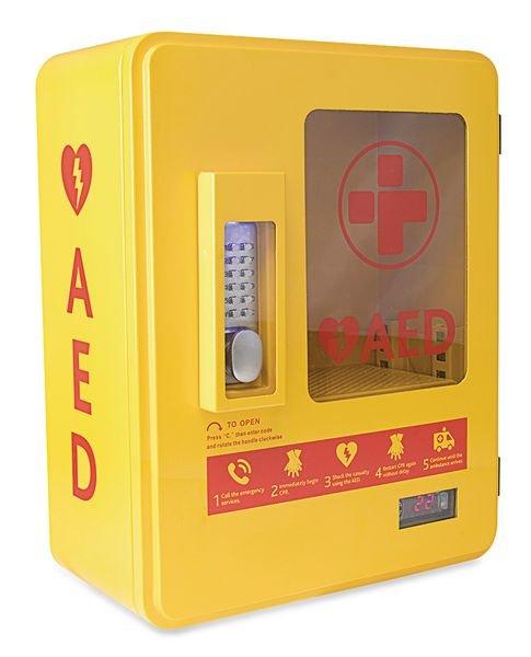 Heated Outdoor AED Storage Cabinet - Seton