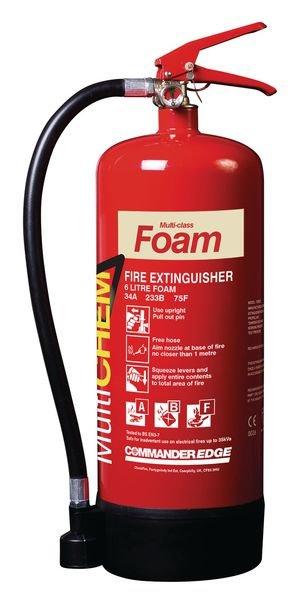 Commander Edge 6L MultiCHEM Foam Fire Extinguisher