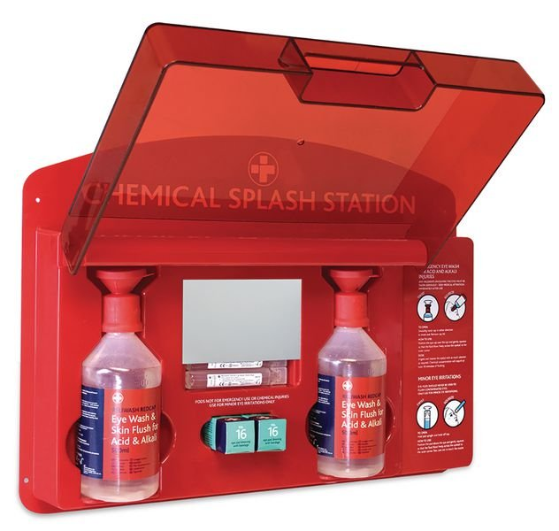 Redcap™ Chemical Splash Station - Eye Wash Kits & Cabinets