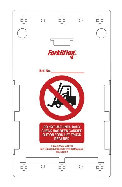Forkliftag® Inspection Holders - Pack of 10 - Scafftag