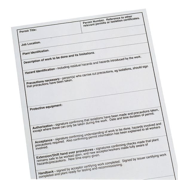 Permit-to-Work Forms