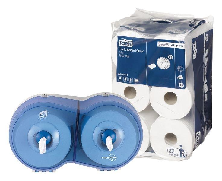 Tork® Smart One Mini Rolls & FREE Dispenser