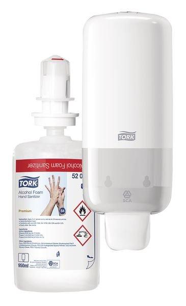 Tork® Foam Soap/Sanitiser With FREE Dispenser
