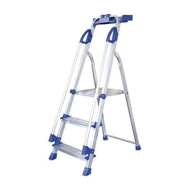 Aluminium Stepladders with Safety Handrail