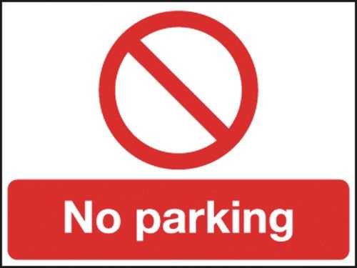 Reflective Safety Sign - No Parking