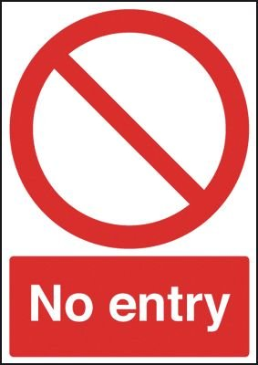 No Entry Window Fix Signs