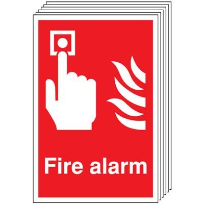 6-Pack Fire Alarm Signs