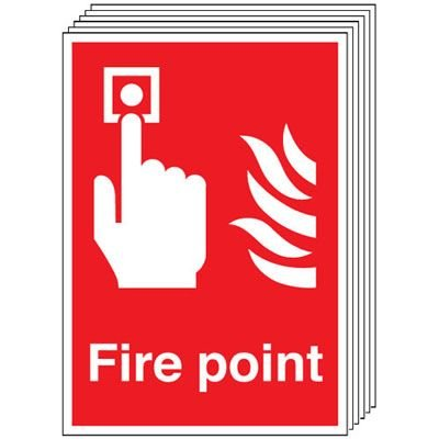 6-Pack Fire Point Signs