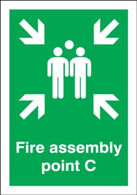 Fire Assembly Point C Signs