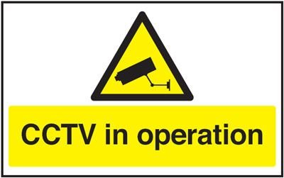 Window Cling CCTV In Operation