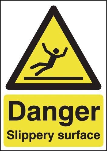 Danger Slippery Surface Signs