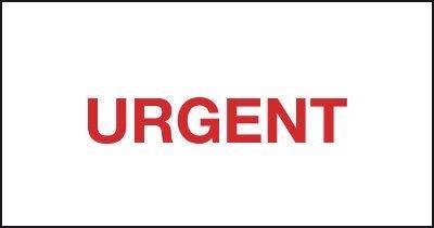 Packaging Labels - Urgent