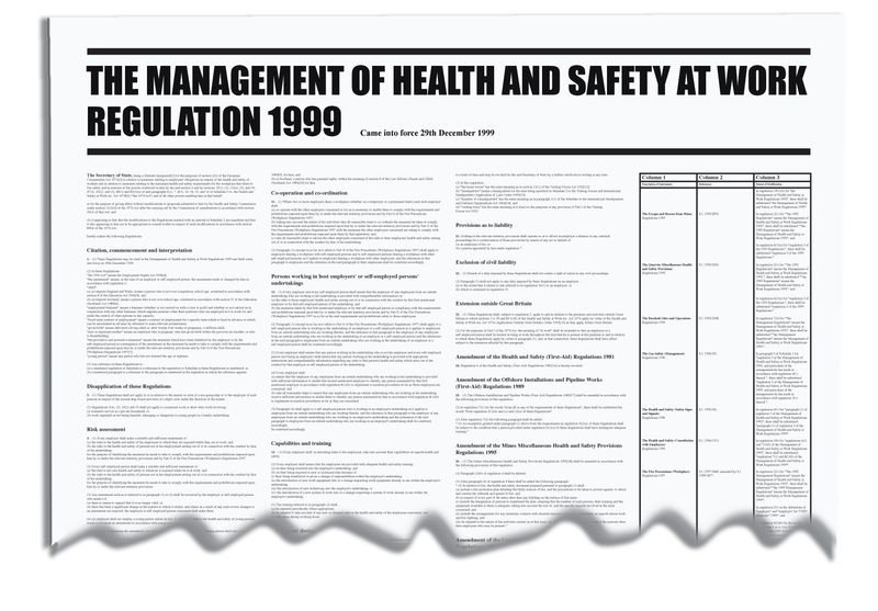 Management Of Health & Safety Workplace Wallchart