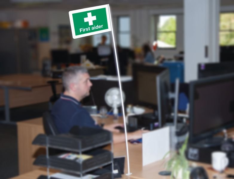 First Aider Flag - First Aid Room Equipment