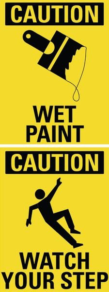 Wet Paint / Watch Your Step Dual Message Floor Stand