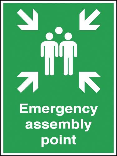 Emergency Assembly Point Outdoor Aluminium Signs