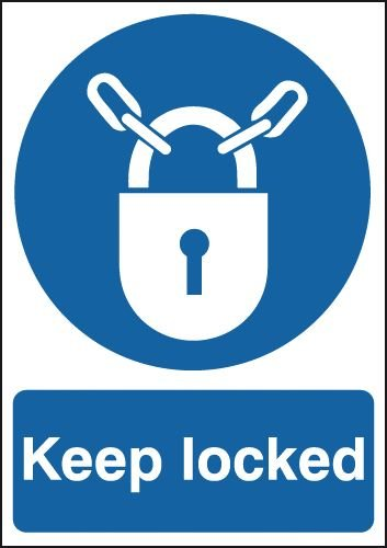 Keep Locked & Symbol Signs