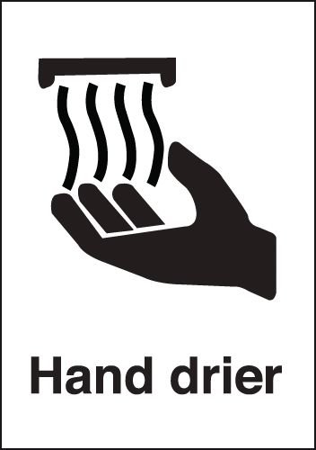 Hand Drier Sign