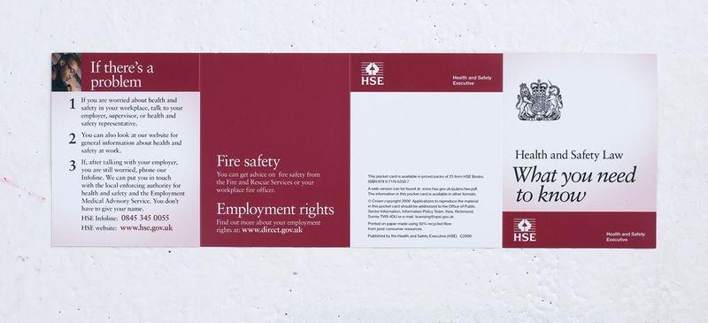 HSE Health & Safety Law Pocket Cards - Seton