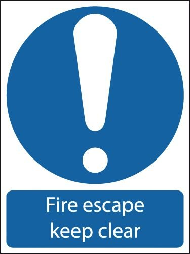 Fire Escape Keep Clear (Symbol) Signs