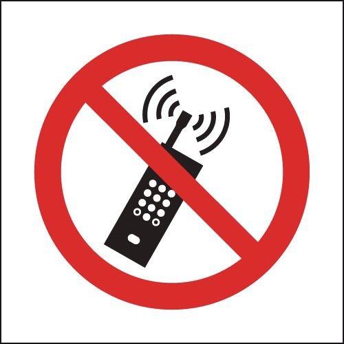 No Mobile Phones (Symbol) Sign