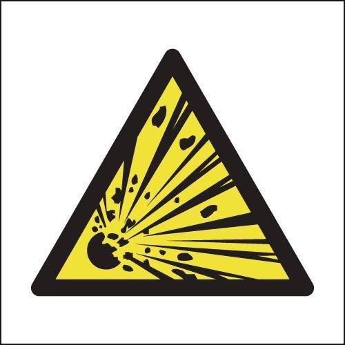 Explosive Hazard Symbol Signs