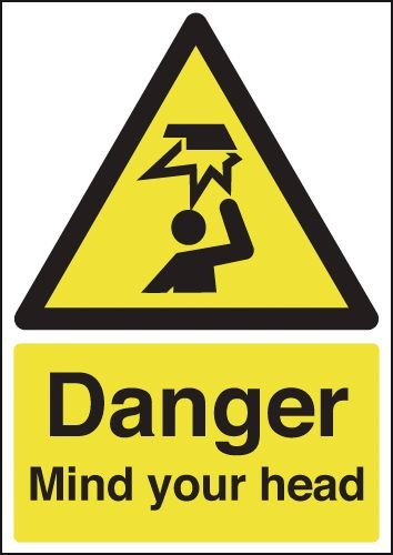 Danger Mind Your Head Signs