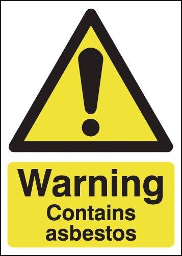 Warning Contains Asbestos Signs