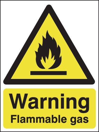 Warning Flammable Gas Signs