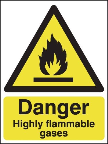 Danger Highly Flamable Gases Signs
