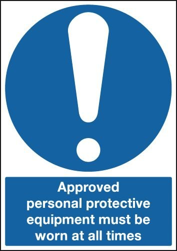 Approved PPE Must Be Worn Sign