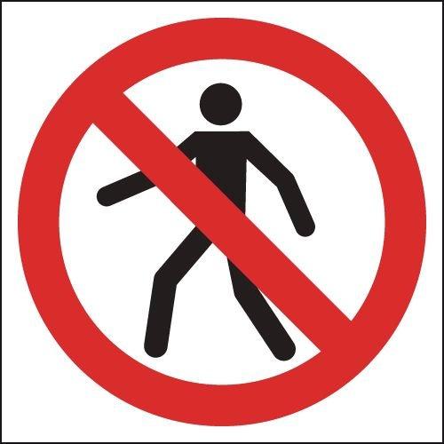 No Pedestrians (Symbol Only) Signs