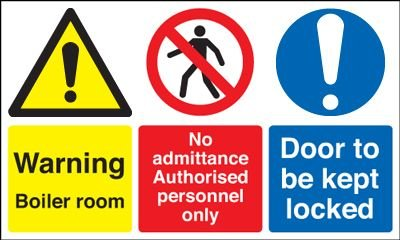 Boiler Room/Authorised Persons/Door Multi-Message Signs