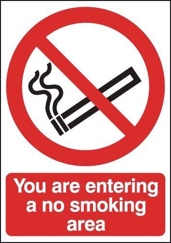 You Are Entering A No Smoking Area Sign